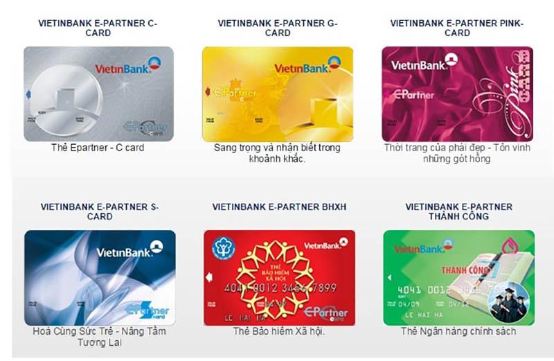 Vietinbank phát hành các loại thẻ ghi nợ, thẻ tín dụng nội địa và quốc tế