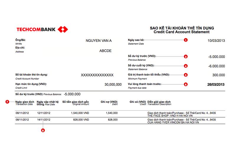 Bản xin sao kê tịa ngân hàng