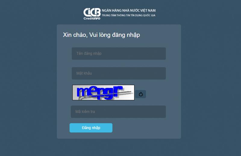 Truy cập website CIC và đăng ký tài khoản