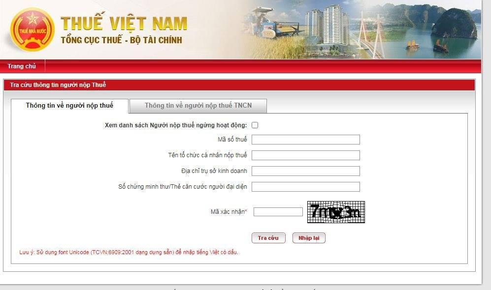 Giao diện Website Thuế Việt Nam – Trang thông tin điện tử của Tổng cục Thuế (hình 1)