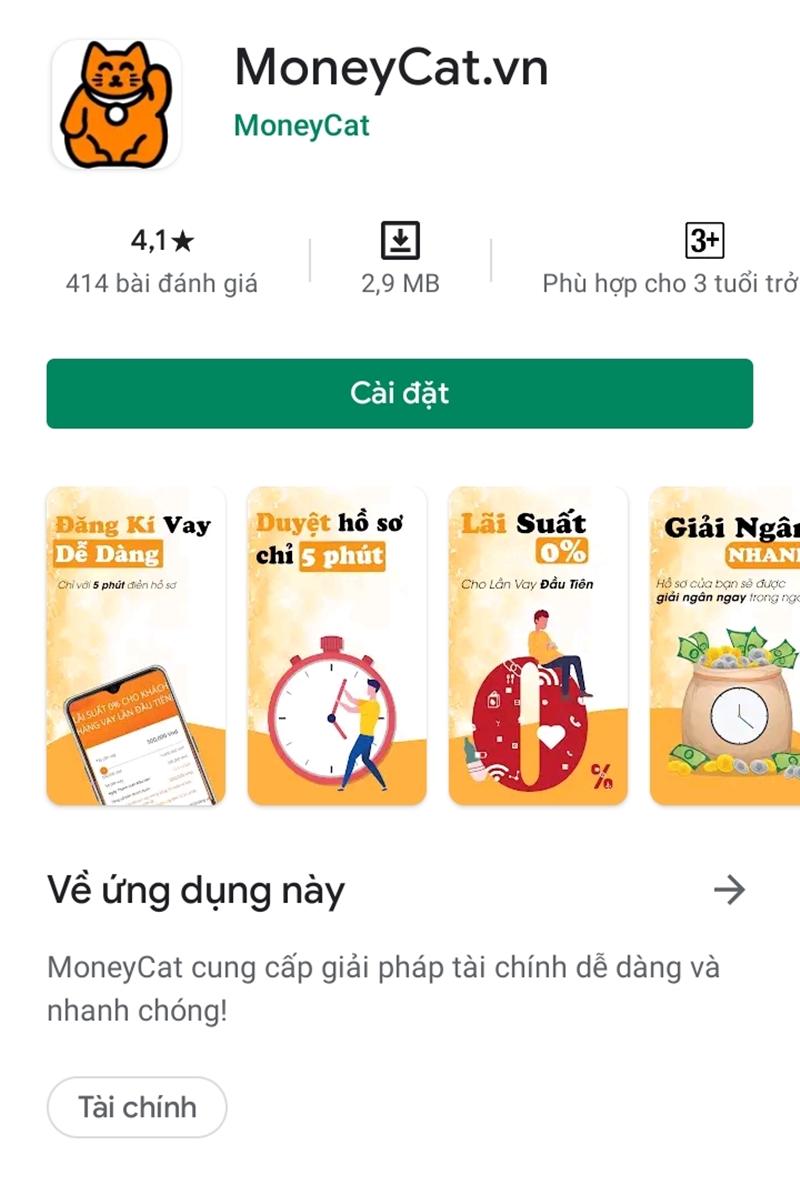 MoneyCat là ứng dụng vay tiền nhanh với thủ tục đơn giản, nhanh chóng tại Hà Nội