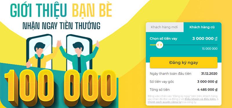 Cùng Tamo vay 3 triệu trả góp thủ tục đơn giản